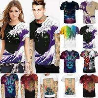 Men Women 3D Print Short Sleeve Loose T-Shirt Casual Graphic Tee Shirt Top S-3XL