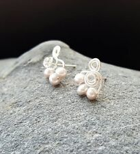 (1 pair available) HANDMADE! Genuine Pearl Earrings 20147