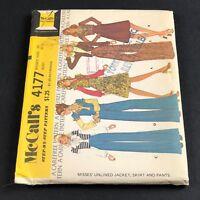 McCalls Vintage Sewing Pattern #4177 Misses Unlined Jacket Skirt Pants Size 10