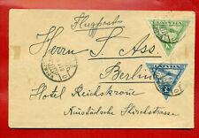 1922 LATVIA GERMANY AIR MAIL ENVELOPE CANCEL RIGA TO BERLIN 712