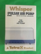 vtg Whisper Pulsar Air Pump for a 10-29 gallon tank Tetra Japan New Sealed