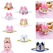 Kids Baby Toddler Crown Birthday Party Sparkly Hat Tiara Headband Headwear