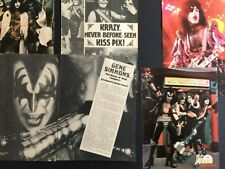 KISS 6 Pages 1970's Magazine Pinup's / Clippings