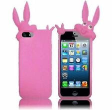 iPhone 5 5S SE Rubber SILICONE Soft Gel Skin Case Phone Cover Rabbit Baby Pink