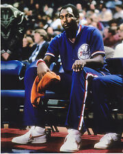MOSES MALONE  PHILADELPHIA 76ERS  VINTAGE COLOR  8x10 PHOTO