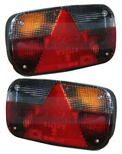 PAIR OF (2) ASPOCK MULTIPOINT 3 III REAR LIGHTS LAMPS FOR BRIAN JAMES TRAILERS
