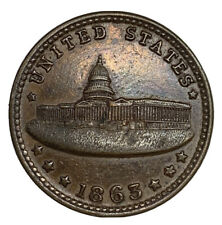 1863 Army & Navy Us Capitol Building Washington Dc Patriotic Civil War Token