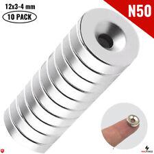 10pcs N50 12x3x4mm Hole Powerful Neodymium Magnet Neodimio Iman Countersunk Diy