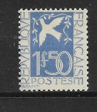 France:  1934 1fr50c blue PEACE  vf  Mint hinged SG 519 CV £70