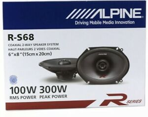 """Alpine R-S68 R-Series 6""""x8"""" Coaxial 2-way car speakers New Pair RS68"""