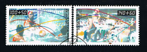 GERMANIA BERLINO BERLIN  FRANCOBOLLI PRO SPORT 1990 timbrato (BB637)