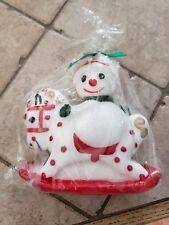 Vintage snowman candles