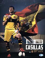 Iker Casillas Signed Real Madrid 11x14 Soccer Photo BAS Beckett C10562