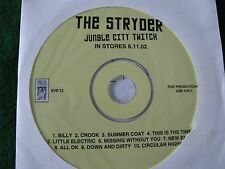 THE STRYDER.. Jungle City Twitch (10 Track CD Promo Album)