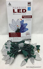 25 Faceted C7 LED Color Changing Blue White Multi Christmas Holiday Light Show