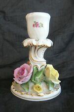 Herend Ungarn Porzellan Kerzenleuchter Kerzenhalter Kerzenständer Rosen Blumen