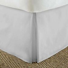 1 Qty Valance/Bed Skirt (All Size US) Egyptian Cotton 1000 TC Light Grey Solid