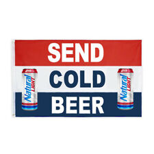 Send Cold Beer Natural Light Novelty Flag Banner 3x5ft Decor