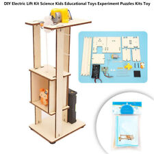 DIY Electric Lift Kit Kids Science Elevator Model Experiment Educational Toy CG