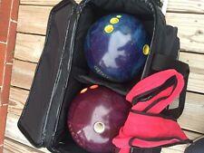 Brunswick 2 Ball Double Roller Bowling Bag + Ebonite Matrix TPS-11 + Tornado Set