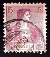 CatalinaStamps: Switzerland Stamp #131 Used, SCV=$13, #A149