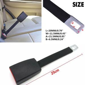 1PC 25CM Black High Strength Car Safety Seat Belt Extender Extension Buckle Clip