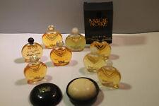 Lancome * Magie Noire * Lot of 9 Miniature Mini Perfume Parfum Bottles Vintage