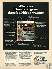 1977 Print Ad of Hilton Hotels and Inns wherever Cleveland goes