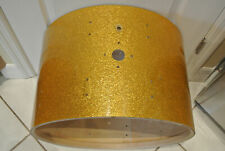 "1961 Ludwig Drum Co. 22"" GOLD SPARKLE BASS DRUM SHELL for YOUR DRUM SET! Z817"