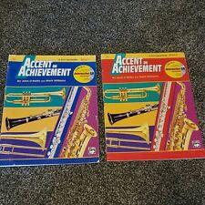 Accent on Achievement Book 1 & 2 E-flat Alto Saxophone John O'Reilly CDs include