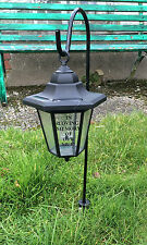 Solar Memorial Lantern Grave Light Mum Dad Brother Sister Nanna with Crook