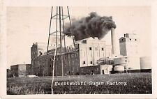 1925 (Nebraska NE) Scottsbluff Sugar Factory Building Real Photo RP Postcard