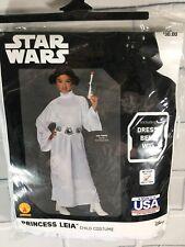 Disney Star Wars Princess Leia Halloween Costume Rubies Girls Child Sz M 8-10 (K