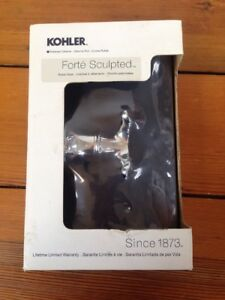 NEW Kohler Forte Sculpted Polished Shiny Chrome Double Robe Hook R11375-CP