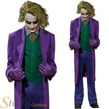 Official Mens Joker Deluxe Grand Heritage Batman  Halloween Fancy Dress Costume