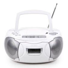 Stéréo système de musique Cassette Radio CD blanc portatif Denver Electronics