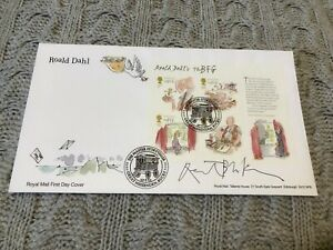 Quentin Blake SIGNED Roald Dahl 'BFG' Royal Mail 2012 First Day Cover & UACC COA