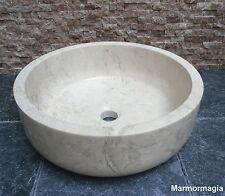 Travertin Marmor Antikmarmor Naturstein Waschbecken Waschschale Bad Dekoration