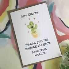 Teacher Card - Thank You For Helping Me Grow