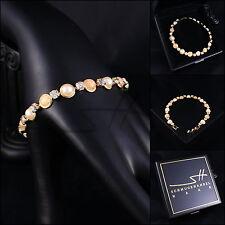 Armband Armschmuck NATUR Bracelet, Gelbgold pl, Swarovski Elements, inkl. Etui