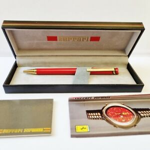 RED FERRARI FORMULA BALLPOINT PEN BY CARTIER WITH BOX , WARRANTY AND ADV.FLYER