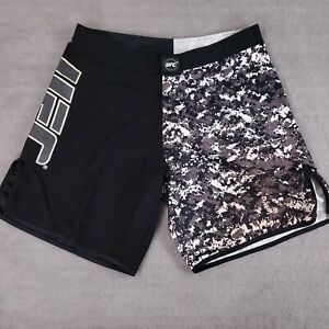 UFC Mens Shorts Size 38 Martial Arts Kickboxing MMA Gray Urban Camouflage