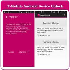 T-Mobile APP UNLOCK Service Alcatel Coolpad Kyocera LG Samsung SONY ZTE Clean