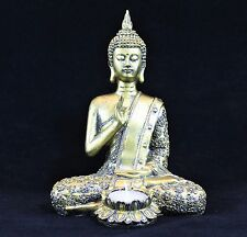 Sentado Buda Té Luz Vela titular interior Estatua Ornamento