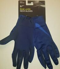 NIKE Men's Cold Weather Base Layer Gloves Size Large Color Blue FREE SHIPPING!!
