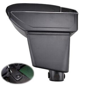 Car Black Dual Layer Armrest For Renault Captur 2013-2017 Storage Content Box