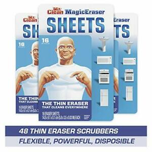 Mr. Clean Magic Eraser Sheets Cleaning Wipes for Hard to Reach Spaces 16 Coun...