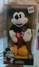 New Special Edition Mickey Mouse Poseable Plush 90 Years of Magic True Original