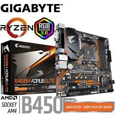 Gigabyte Gaming Motherboard B450M AORUS ELITE AMD Socket AM4 MicroATX DDR4 RGB