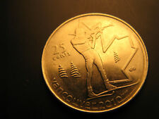 Canada 2007 Vancouver 2010 Olympics Biathlon 25 Cent Mint Coin.